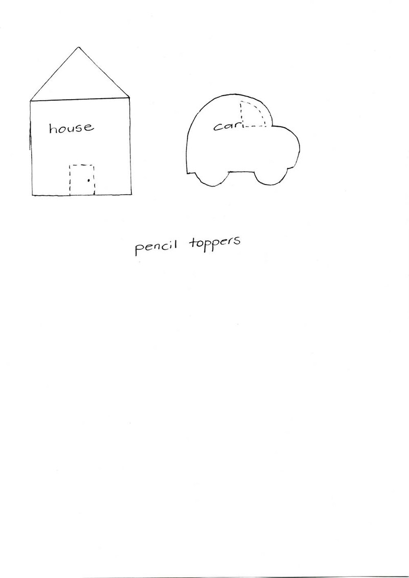 Pencil topper template