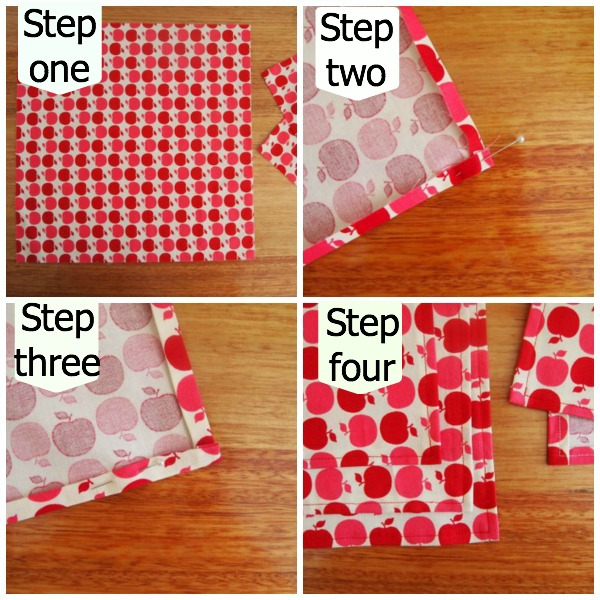 How to make fabric serviettes