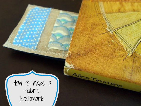 How to make a fabric bookmark
