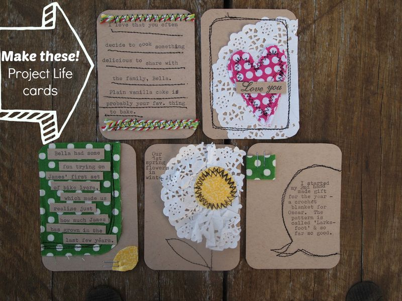 Make your own project life cards 10