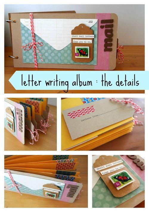 Letter writing album details