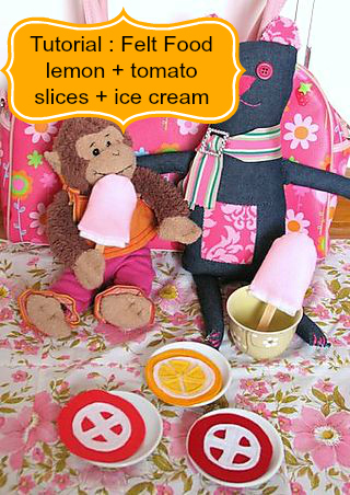 Tutorial felt food ice cream tomato