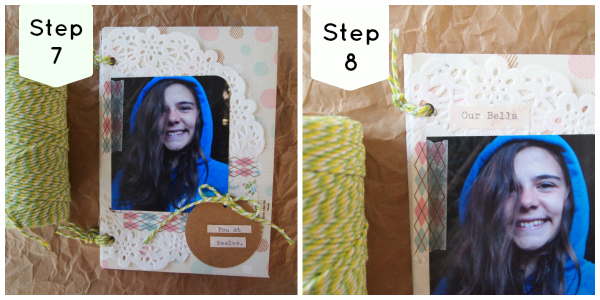 Tutorial mini album step 7 + 8