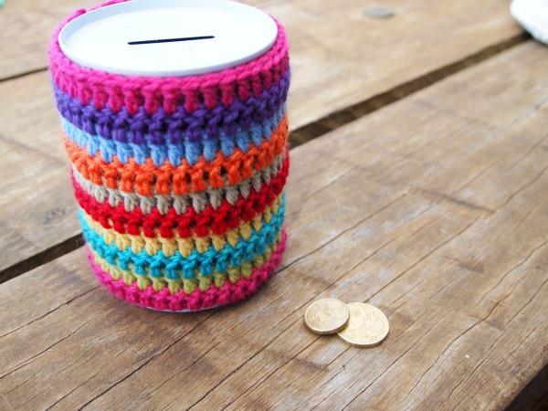 Crochet money box tutorial