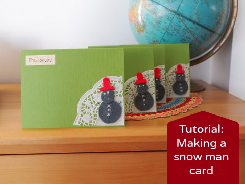 Snowman card tutorial
