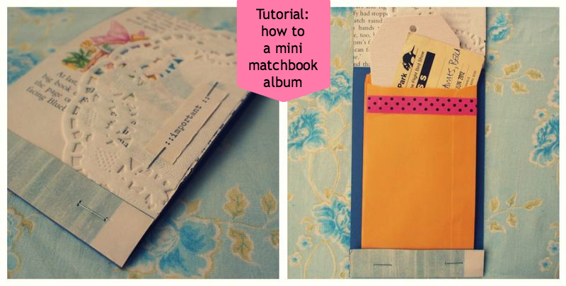 How to make a matchbook album