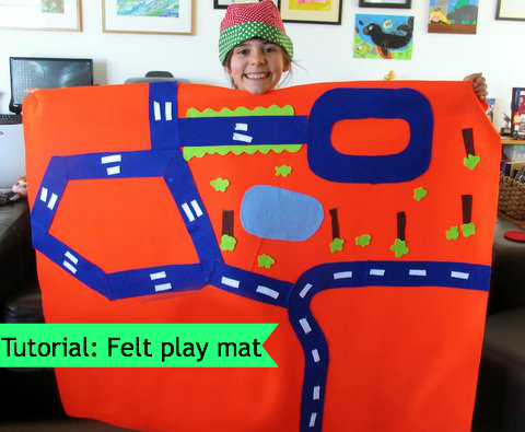 Felt play mat tutorial