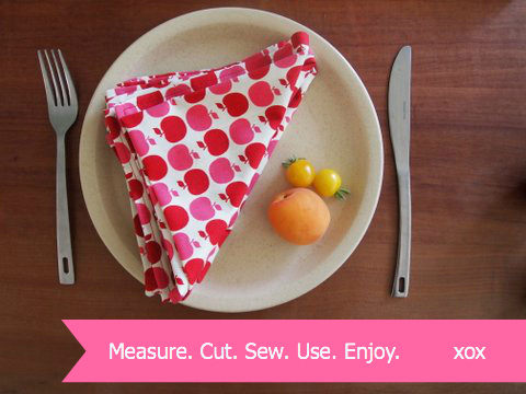 Tutorial make your own fabric serviettes