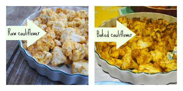Recipe baked curry cauliflower