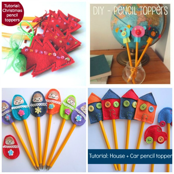 School fair idea pencil toppers