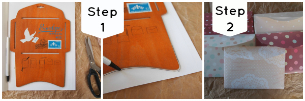 Tutorial envelope mini album step 1