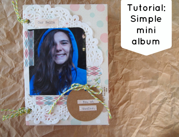 Tutorial simple mini album