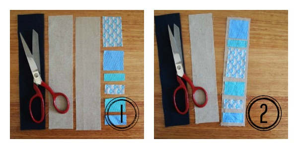 How to make a fabric book mark