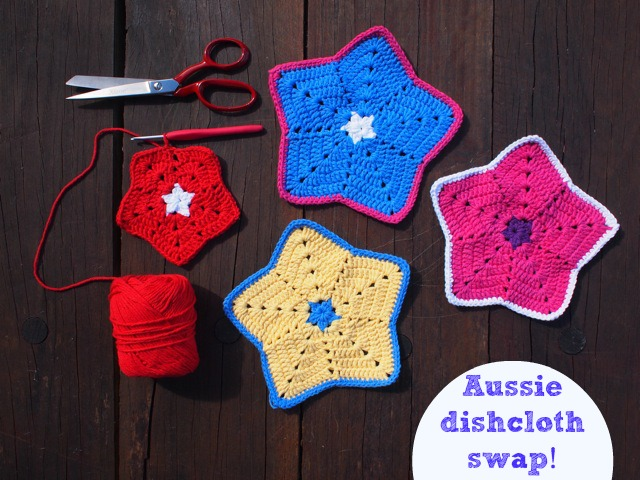 Aussie dishcloth swap