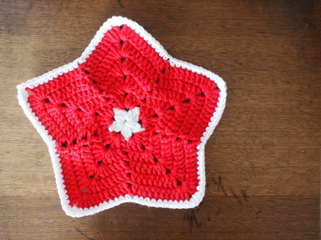 Star pattern dishcloth