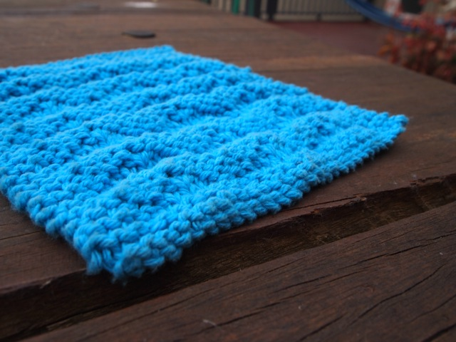 Knitted dishcloth