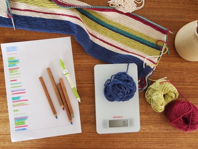 Garter stitch pram blanket 1