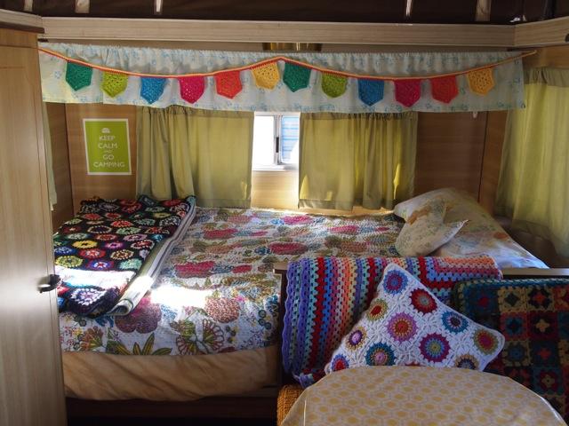 Caravan crochet bunting