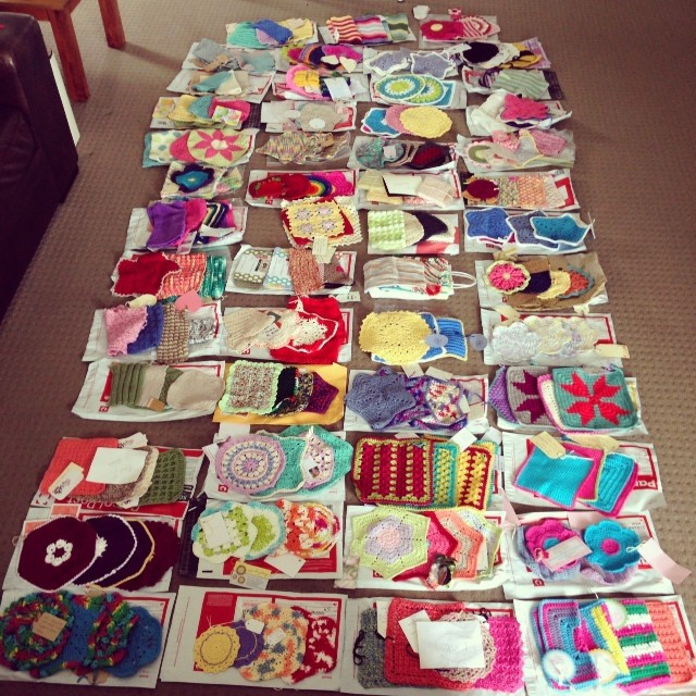 Dishcloth swap photo
