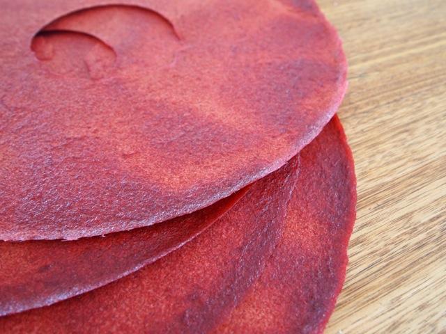 Rhubarb leather dehydrator