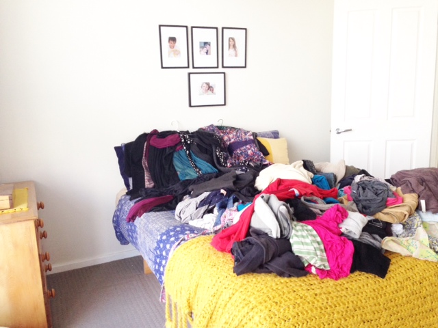 Decluttering bedroom clothes