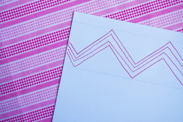 Stitched stationery step 3