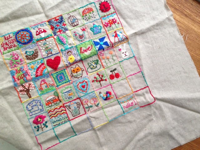 40 square embroidery