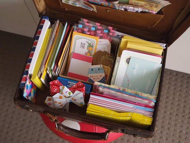 Storing snail mail stationery 1