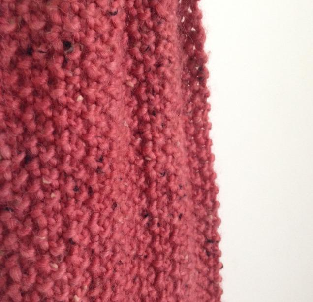 Moss stitch loop scarf 2