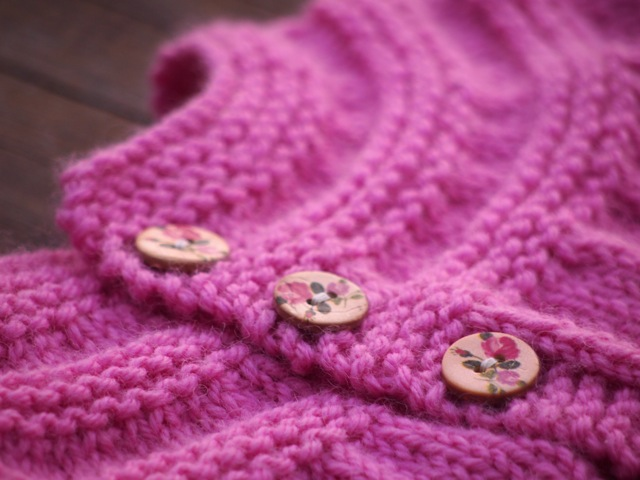 In threes cardigan buttons