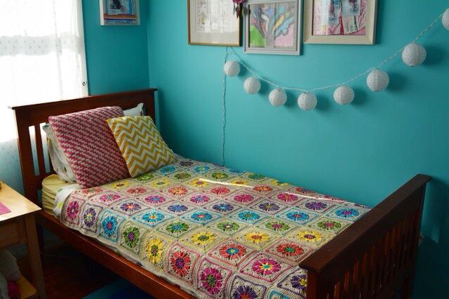 Crochet blanket flowers 2