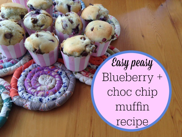 Blueberry and choc chip muffin recipe