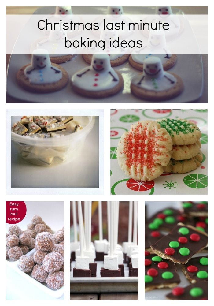 Christmas last minute baking ideas