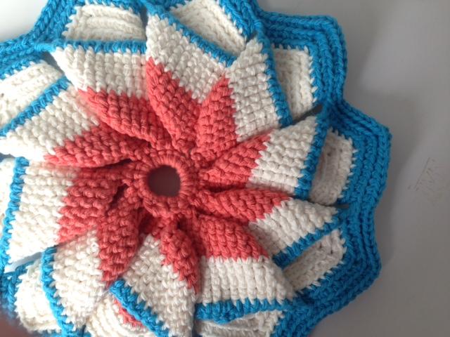 Ten point hot pad crochet