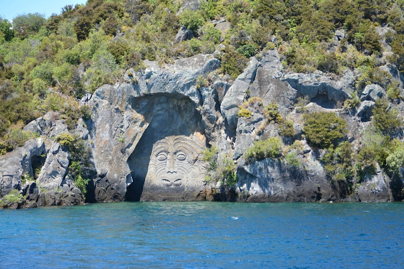 Lake taupo maori carvings