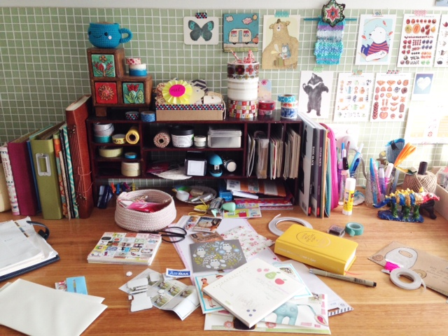 My messy creative space