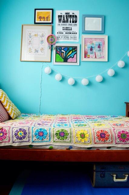 Crochet blanket flowers 3