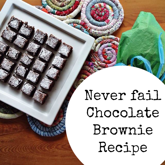 Never fail chocolate brownie recipe