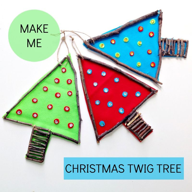Diy Christmas twig tree