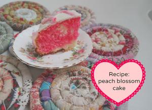 Peach blossom cake