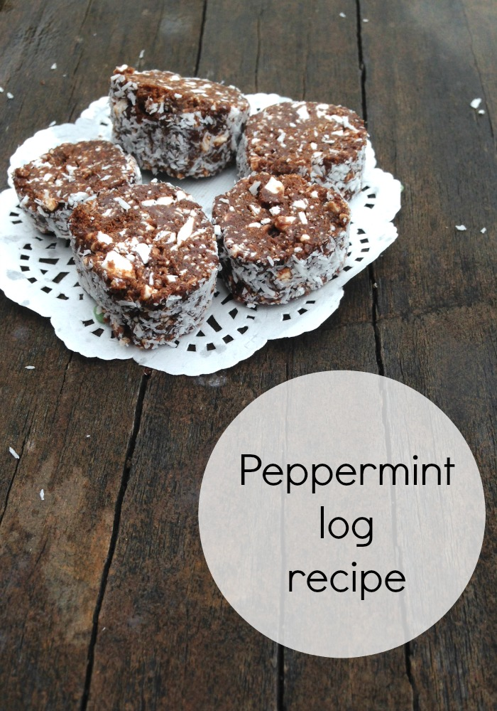 Peppermint log recipe