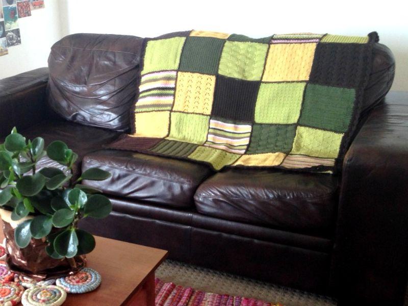 Handmade christmas gift blanket