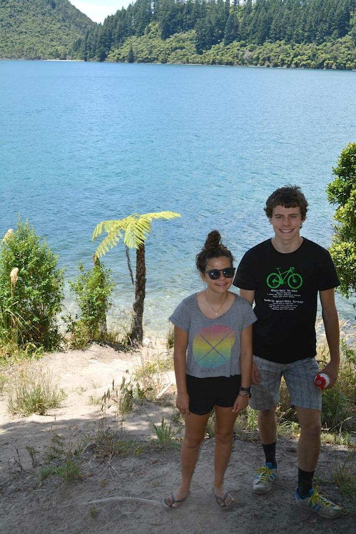 Blue lake at rotorua