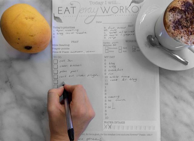 Wellness planner eatprayworkout