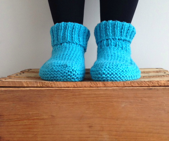 Slippers knitted