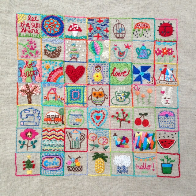 Sampler embroidery
