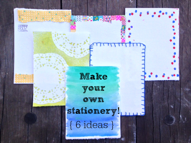 Make your own stationery