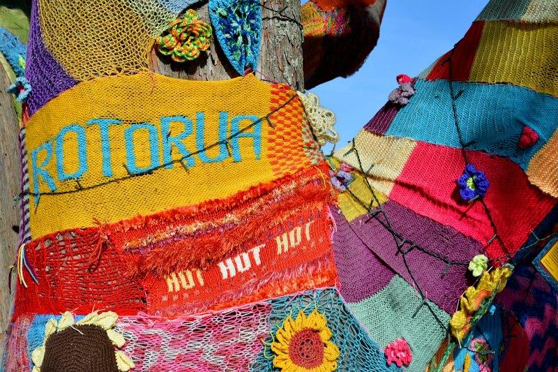 Rotorua yarn bombing